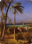 bahamian view by albert bierstadt painting