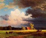 bavarian landscape by albert bierstadt painting