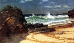 beach at nassau by albert bierstadt painting