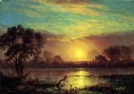 evening owens lake california by albert bierstadt paintings