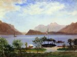 italian lake scene by albert bierstadt paintings