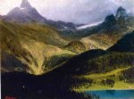albert bierstadt mountain landscape iii painting 37718