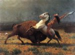 albert bierstadt the last of the buffalo painting