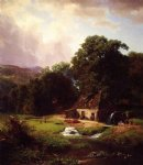 the old mill by albert bierstadt Painting