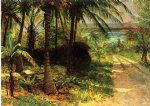 tropical landscape by albert bierstadt painting