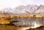 wassatch mountains utah by albert bierstadt painting