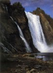 waterfall by albert bierstadt painting