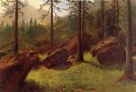 albert bierstadt wooded landscape painting 37847