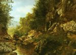 in the catskills by alexander helwig wyant painting
