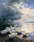 ducks in the morning by alexander koester paintings