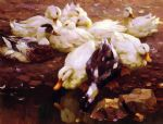 max enten am teich by alexander koester painting