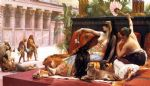 cleopatra testing poisons on condemned prisoners by alexandre cabanel painting