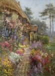 a garden in july by alfred de breanski paintings-77210