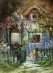 a wayside house by alfred de breanski painting
