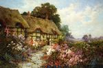 ann hathaway s cottage by alfred de breanski painting