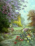 alfred de breanski lilacs & roses painting 80427