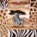 alfred gockel animals of the veldt zebras paintings