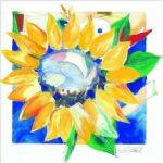 alfred gockel big sunflower painting
