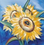 bold sunflowers by alfred gockel Painting