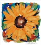 giant sunflower by alfred gockel painting