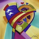 love american style iii by alfred gockel Painting