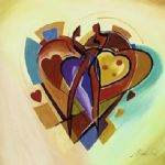 love american style iv by alfred gockel Painting