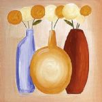 alfred gockel multi hued bottles iii painting