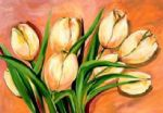 natural beauty tulips i by alfred gockel painting
