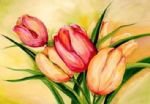 alfred gockel natural beauty tulips ii painting