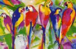 alfred gockel parrot family paintings