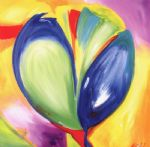 alfred gockel riotous tulips i painting