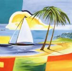 alfred gockel sailing the caribbean i painting