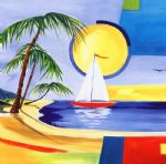 alfred gockel sailing the caribbean ii painting