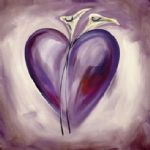 alfred gockel shades of love lavender painting