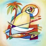 sun fish i by alfred gockel oil paintings