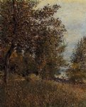 alfred sisley a corner of the roches painting