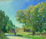 a forest clearing by alfred sisley painting