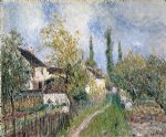 alfred sisley a path at les sablons painting