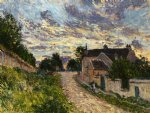 a path in louveciennes by alfred sisley painting