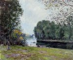 a turn of the river loing summer by alfred sisley Painting