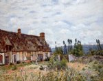 alfred sisley abandoned cottage painting