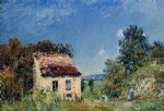 alfred sisley abandoned house painting