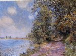 alfred sisley an august afternoon near veneux painting