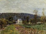 alfred sisley an autumn evening near paris painting