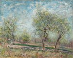 alfred sisley apple trees in bloom painting