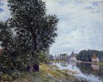 alfred sisley at moret painting