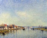 alfred sisley banks of the loing at saint painting
