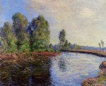 alfred sisley banks of the loing ii painting