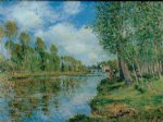 alfred sisley banks of the loing iii painting