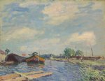 alfred sisley canal at saint painting